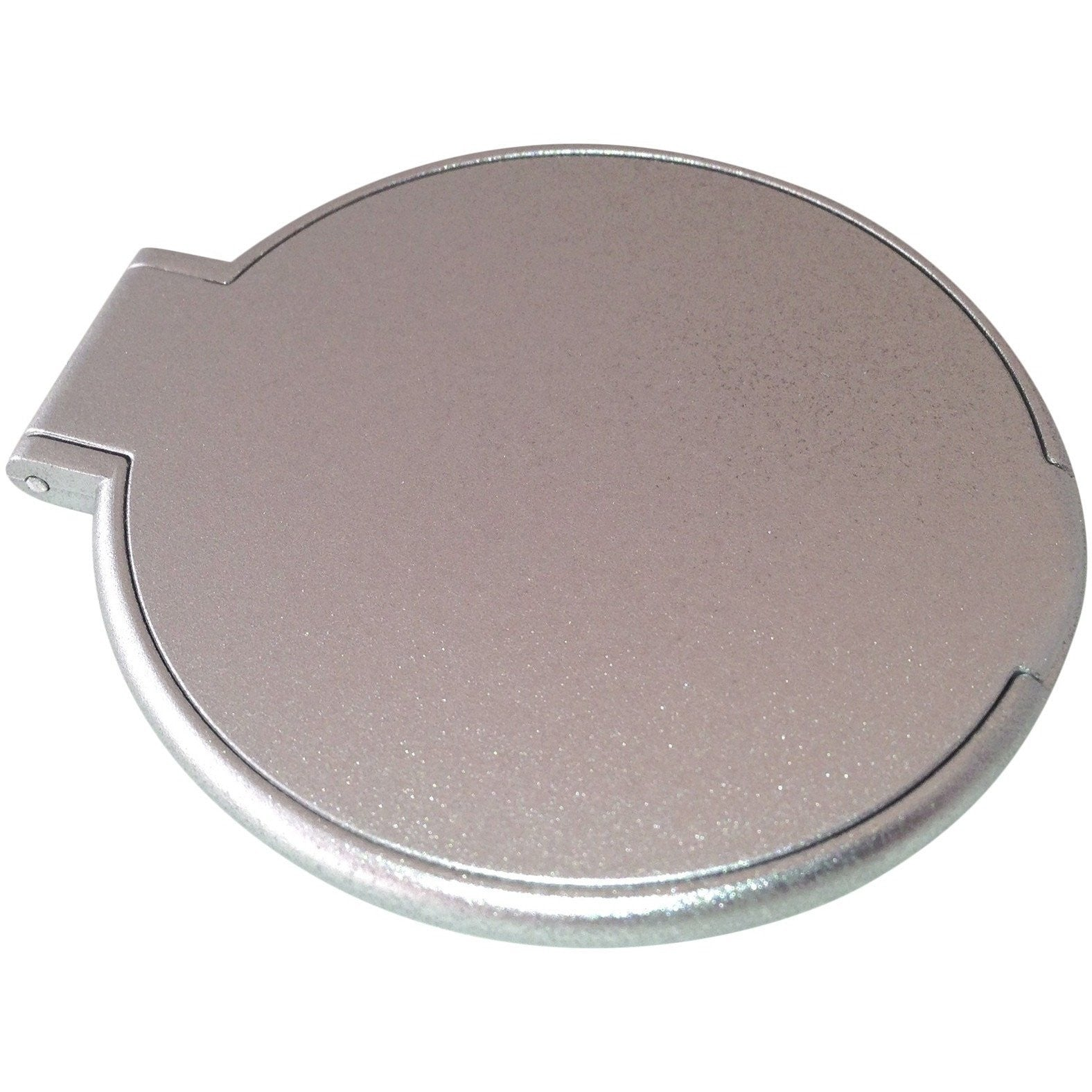 Wholesale Lot of 100 Blank Thin Plastic Compact Cosmetic Mirror Cases Silver