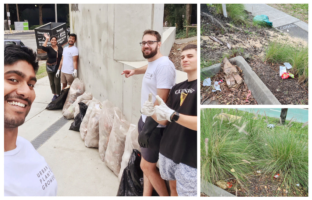 Urban Plant Growers Team on Clean Up Australia Day 2021