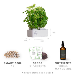 Urban Plant Growers EasyPlanter Smart Garden includes Smart Soil, Basil & Dill Seeds & Small Hydroponic Nutrients