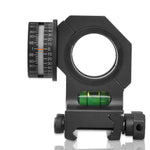 Universal One-piece Offset Scope Mount  Ring with Angel and Level Instrument for Picatinny