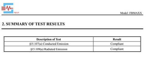 FCC Emission Tests