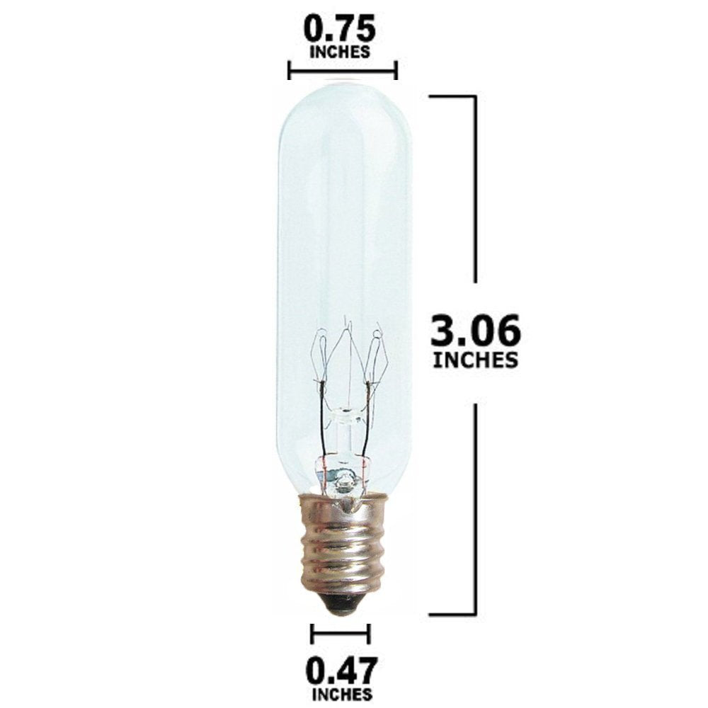 25 Watt Tubular Bulb for Salt Lamps and Night Lights