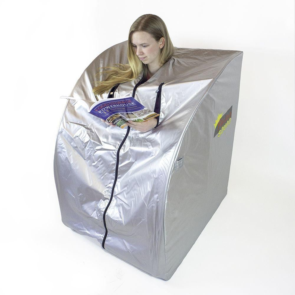 FIR-Real Portable Far Infrared Sauna (Large) with Two Ceramic Heaters
