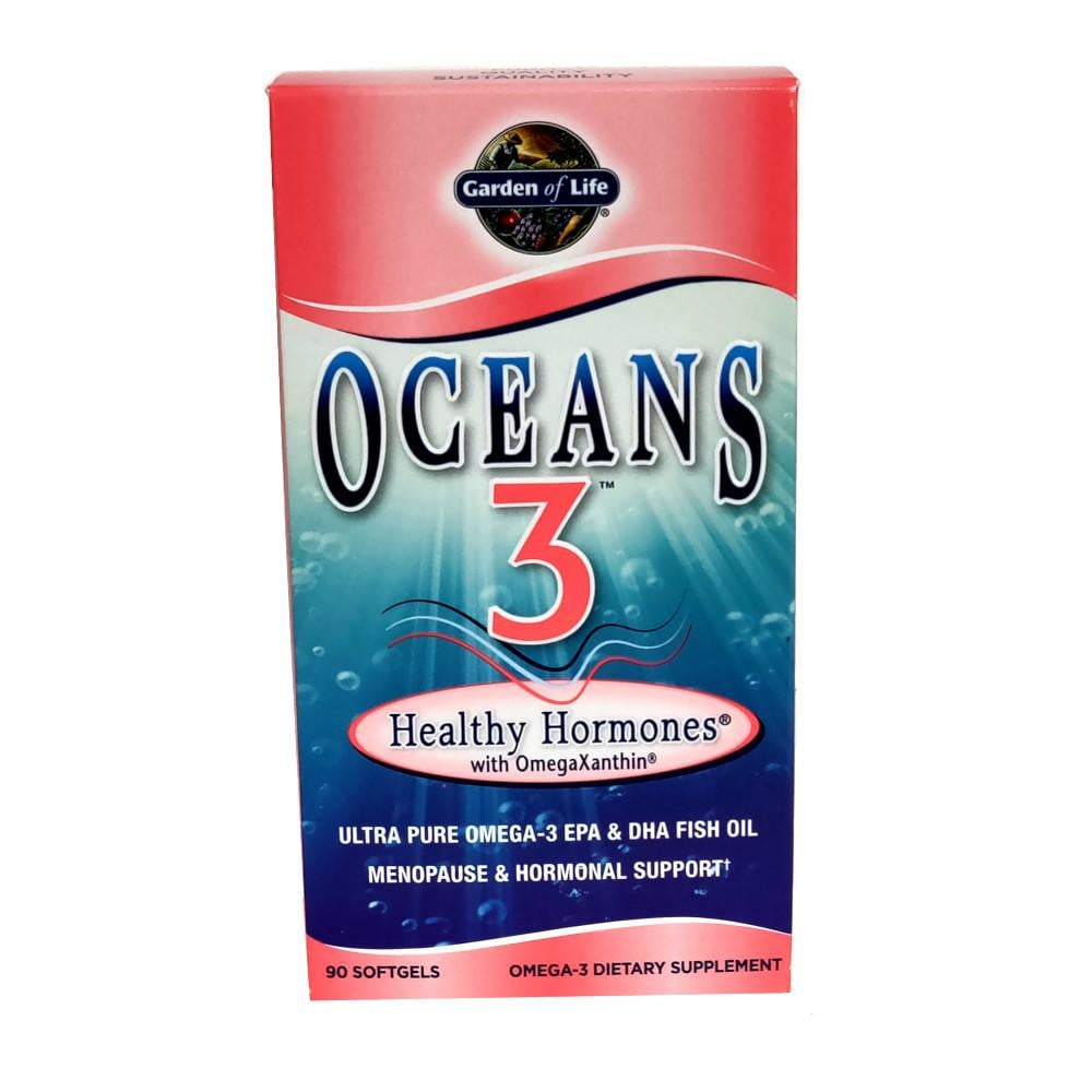 Garden of Life Oceans 3 Healthy Hormones with OmegaXanthin - 90 Softgels