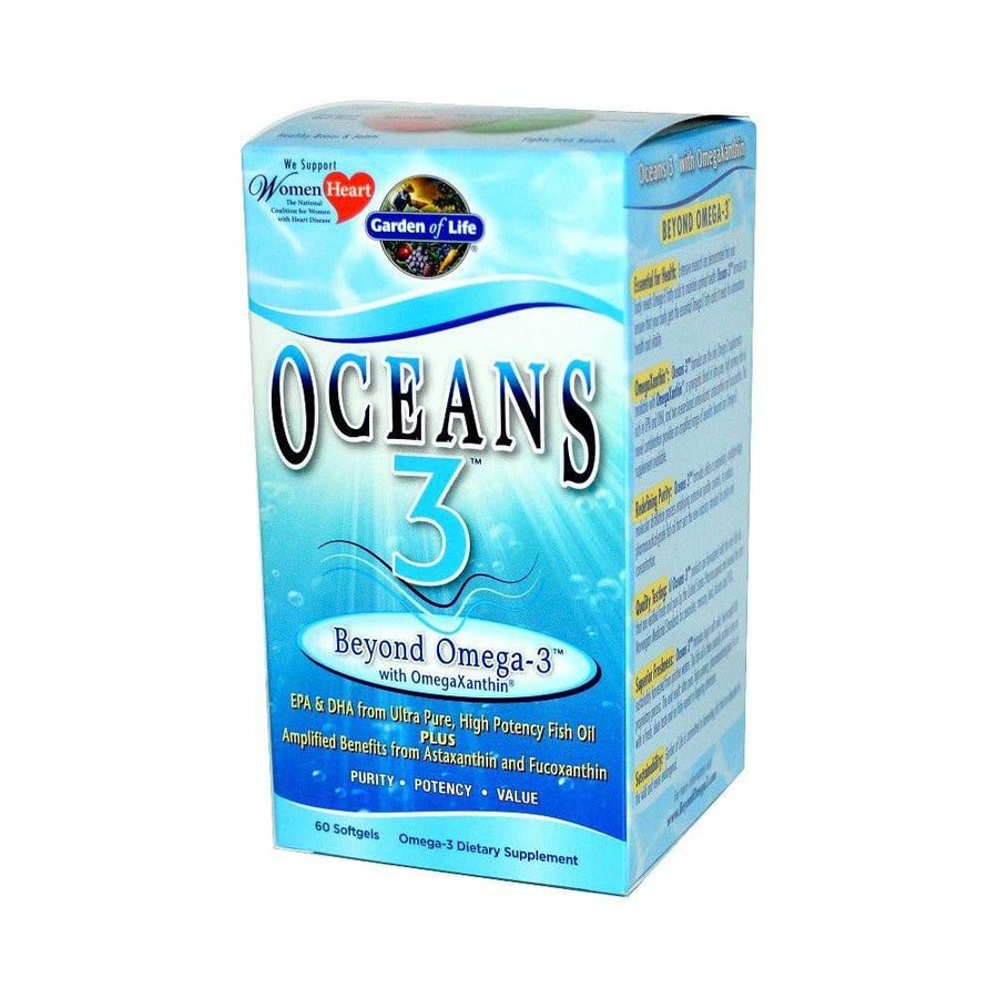 Garden of Life Oceans 3 Beyond Omega-3 with OmegaXanthin - 60 Softgels