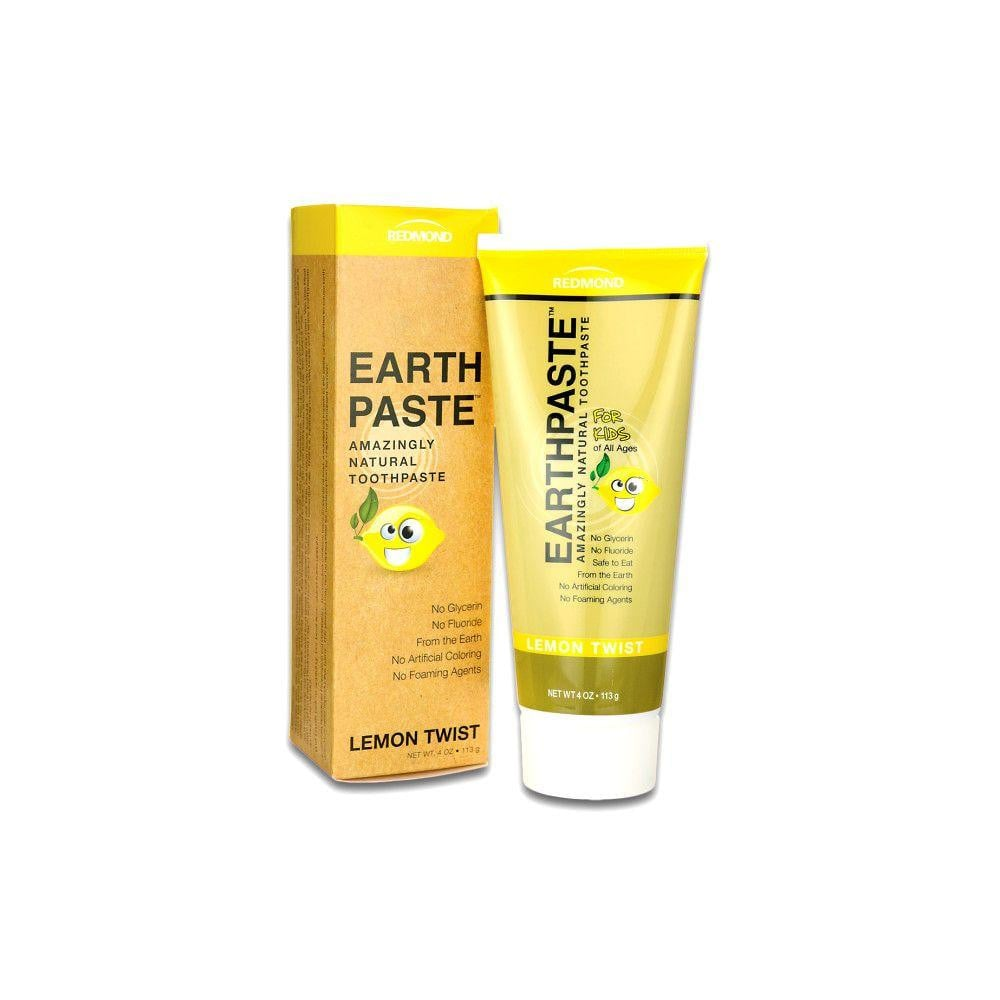 Redmond Clay Earthpaste Natural Toothpaste Lemon Twist - 4oz.