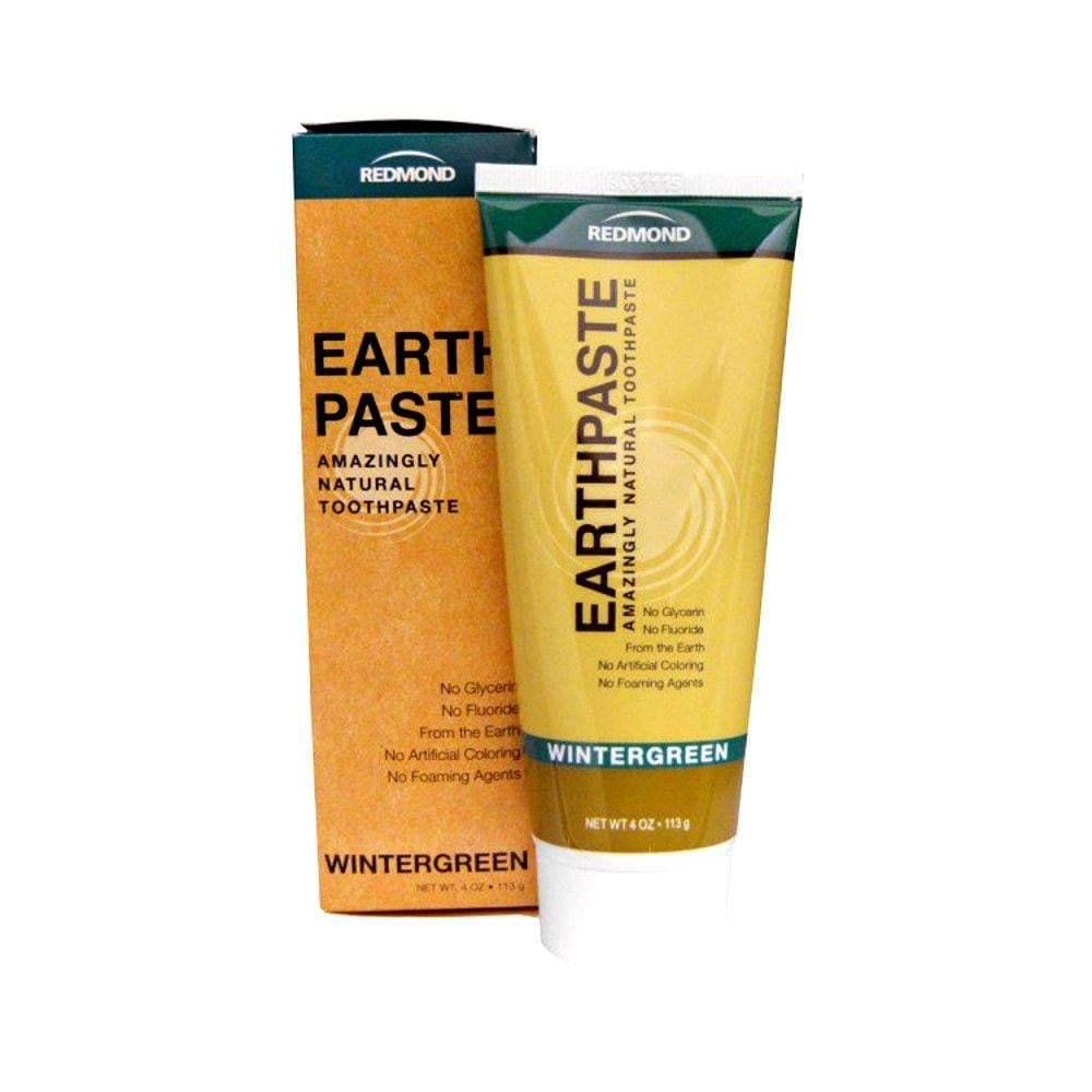 Redmond Clay Earthpaste Natural Toothpaste Wintergreen - 4oz.
