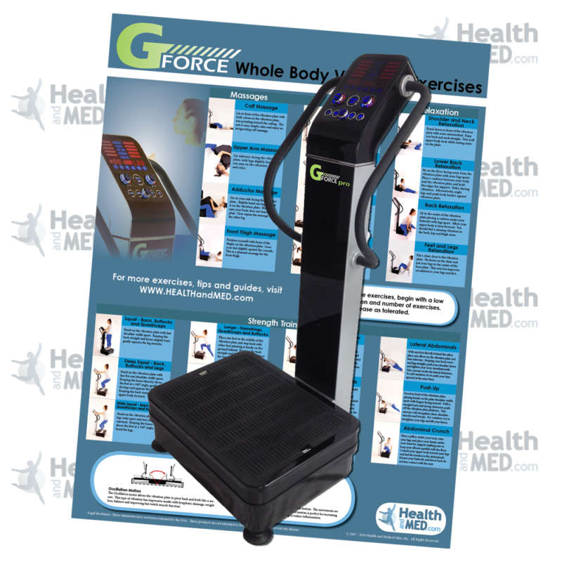 GForce Pro S - 1500W Dual Motor Whole Body Vibration Plate Exercise Machine