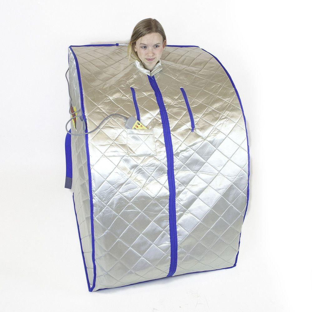 FIR-Real Portable Far Infrared Sauna (Large) with Low EMF Heating Panels