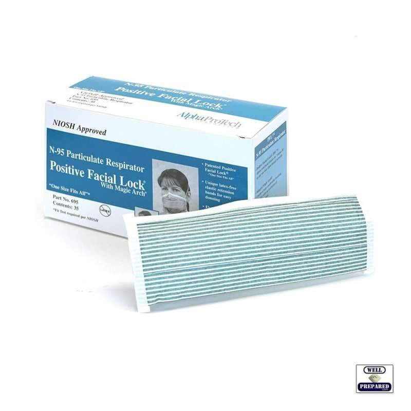 Alpha Protech N-95 Particulate Respirator Box of 35