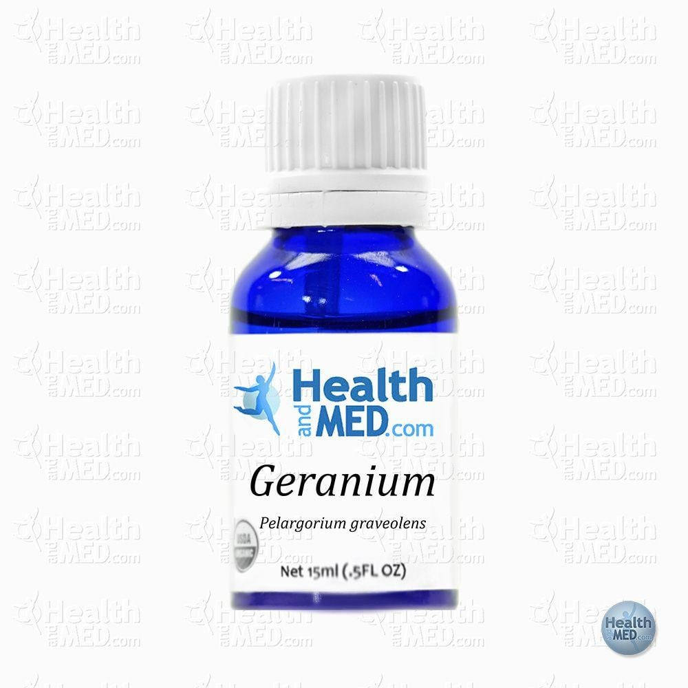 HEALTHandMED 100% Organic Geranium Essential Oil (15mL)