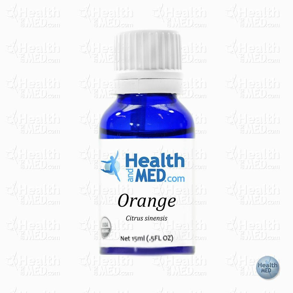 HEALTHandMED 100% Organic Sweet Orange Essential Oil (15ml)