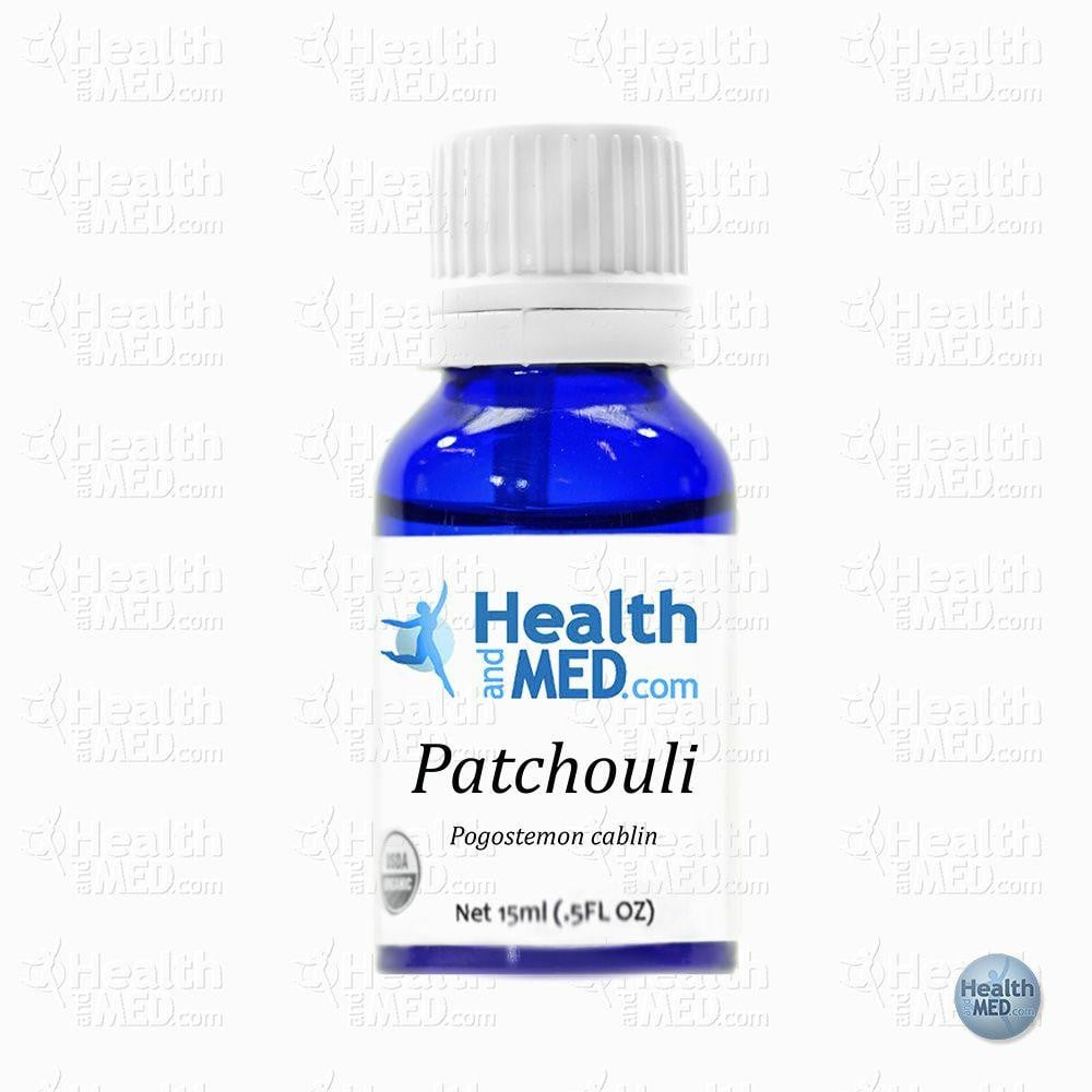 HEALTHandMED 100% Organic Patchouli Essential Oil (15mL)