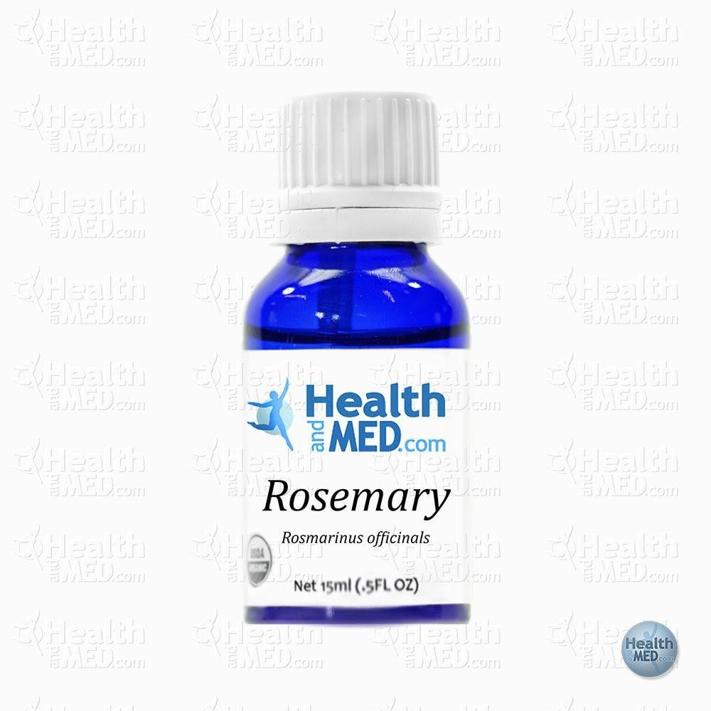 HEALTHandMED 100% Organic Rosemary Essential Oil (15ml)