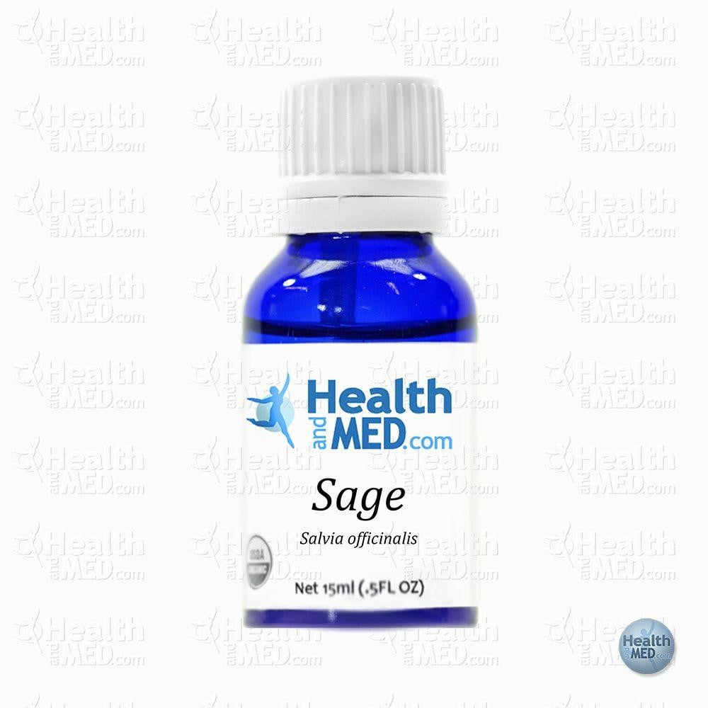 HEALTHandMED 100% Organic Sage Essential Oil (15mL)