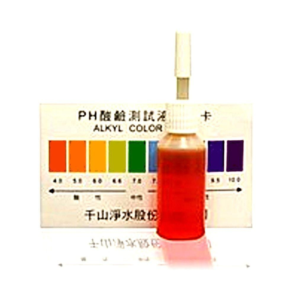 pH Reagent Test Drops and pH Scale Color Chart