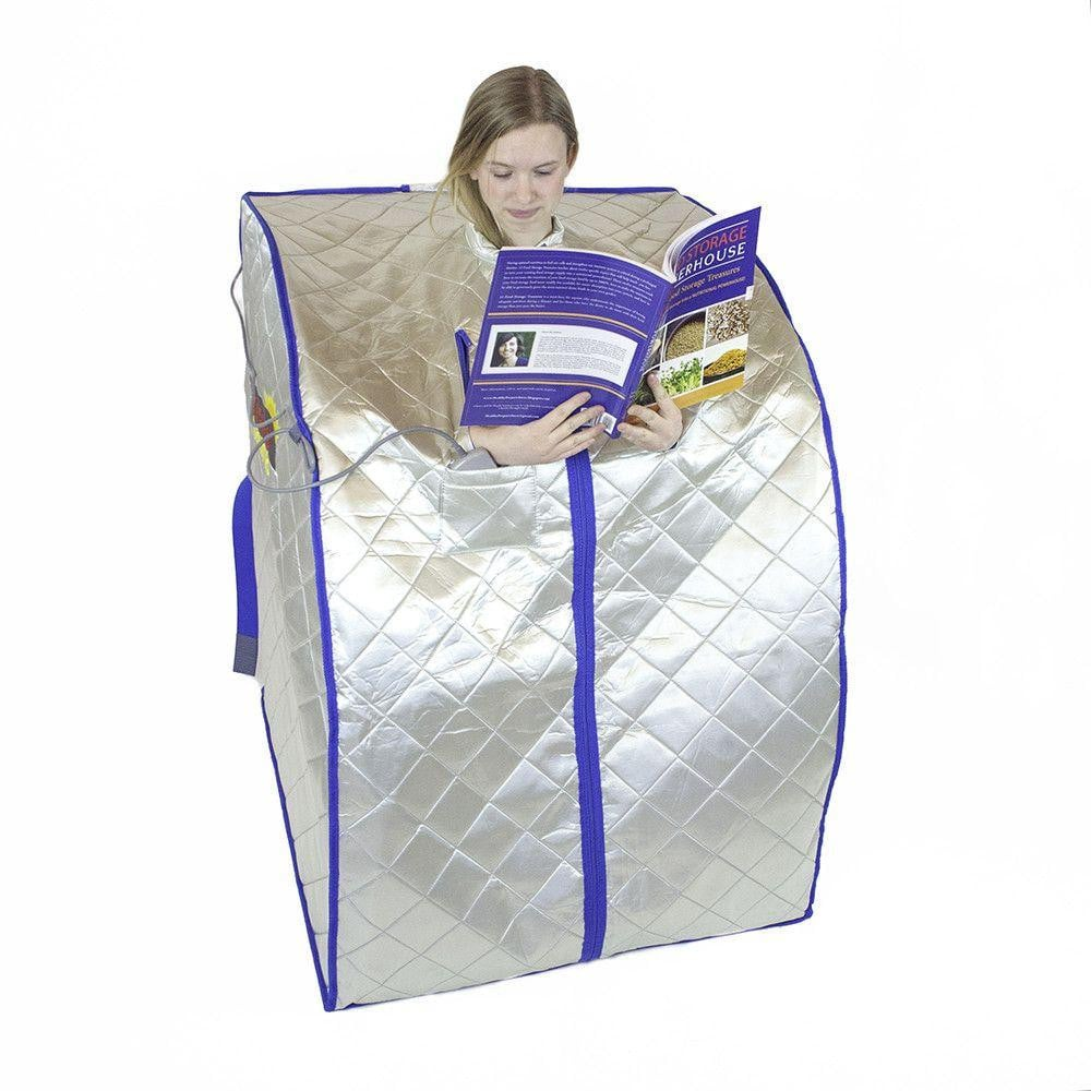 FIR-Real Portable Far Infrared Sauna (Large) with Low EMF Heating Panels - REFURBISHED
