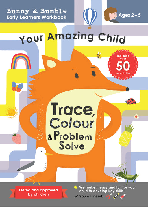 Watch your child light up as they explore pages that transform games they'll love into learning.  Whilst they are enjoying tracing, drawing, colouring, solving puzzles, and more they will be honing a range of important skills including fine motor, early maths, language, and analytical thinking. We make it easy and fun for your child to develop key abilities!