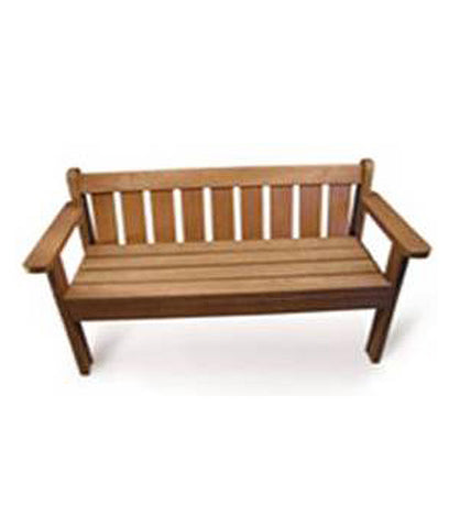 King Bench With Back & Armrests
