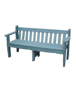 Queen Bench With Back & Armrests