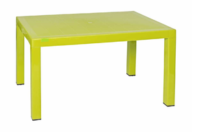 6 Seater Rattan Plastic Table - Choose Colour