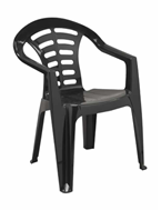 Low Back Madrid Chair - Recycled - Arms - Black