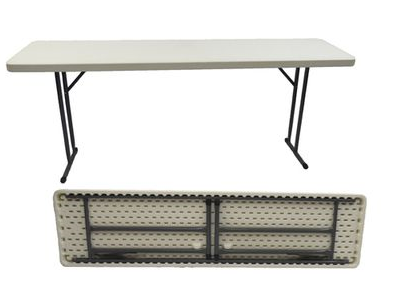 Plastic Conference Table - 1.8m - White
