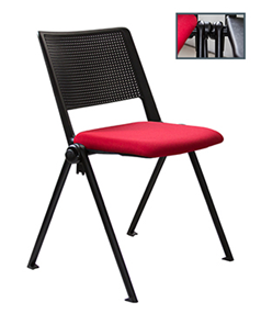 Revolution Stacker Plastic back and upholstered Seat