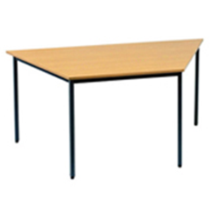 Trapezoid Table Oak Melamine Top