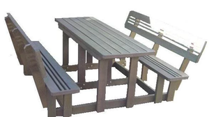 Budget Picnic Bench With Back