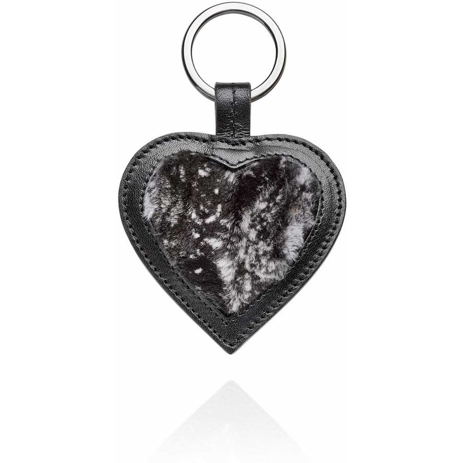 Oh! OH! Keyring Heart Plate Keyhangers Black Plate / Black
