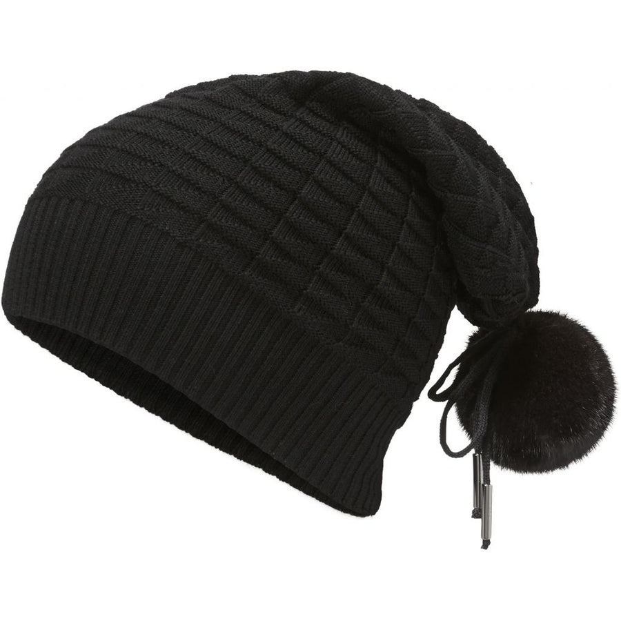 Oh! OH! Althea hat Mink Beanies Black