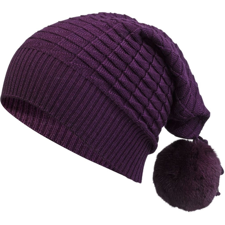 Oh! OH! Althea hat Mink Beanies Potent Purple