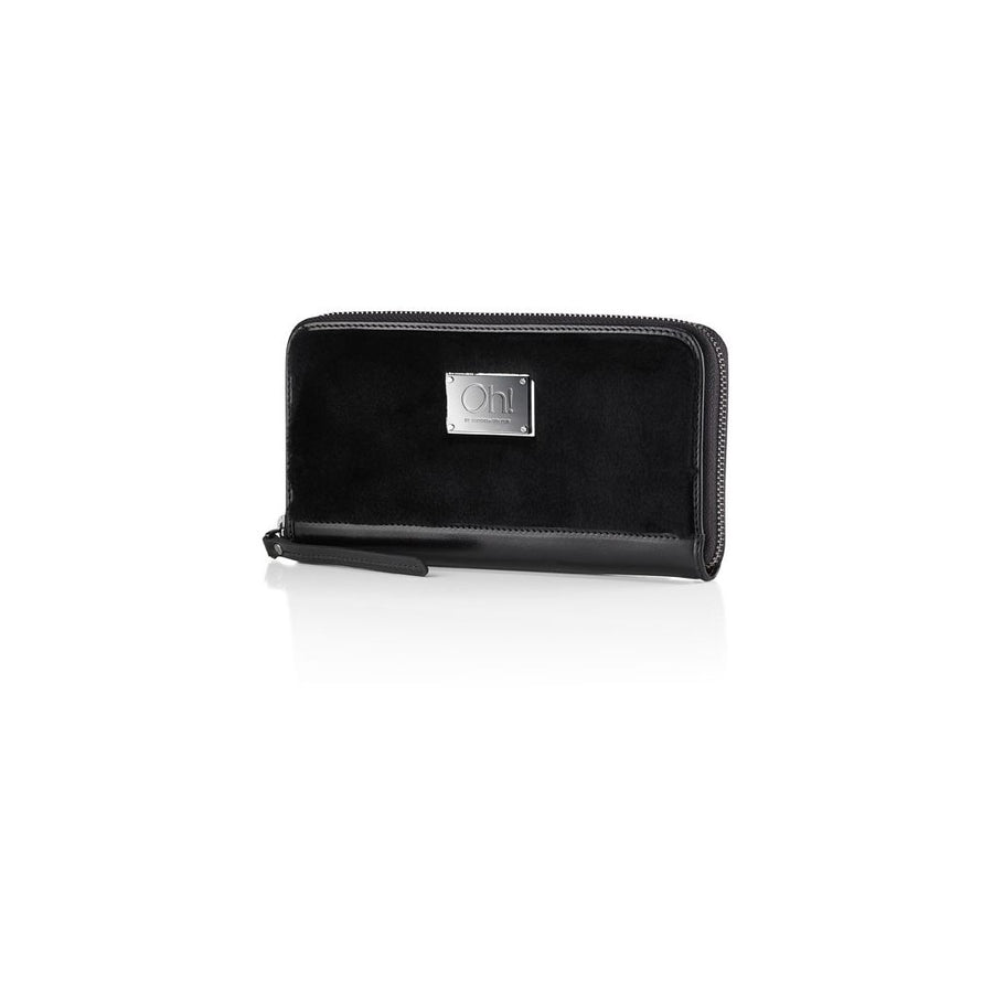 Oh! OH! Amber Wallet Shaved Mink Wallet Black