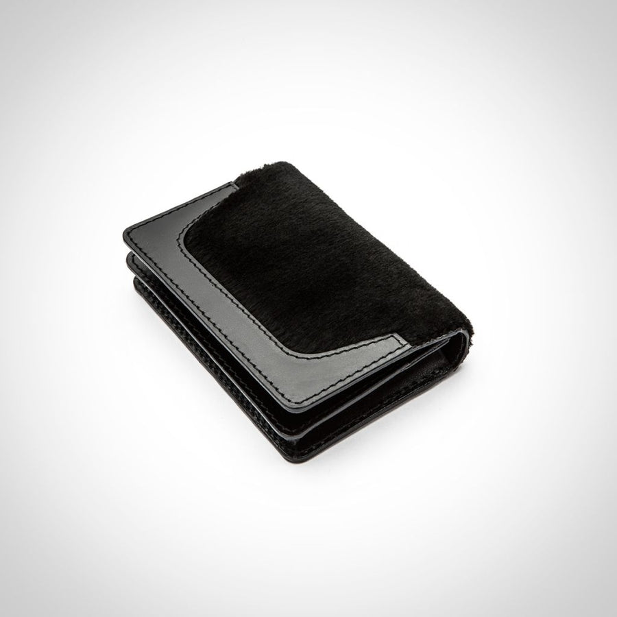 Oh! OH! Card Holder Shaved Mink Wallet Black