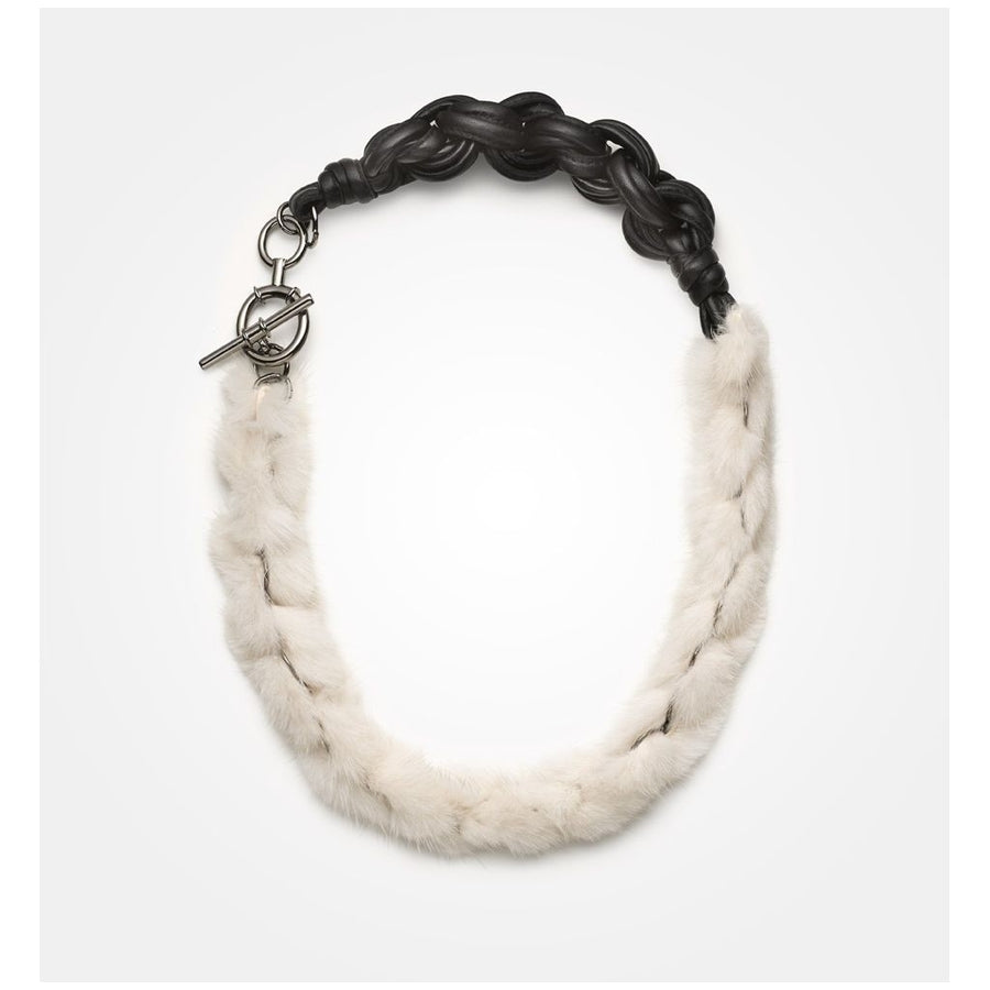 Oh! OH! Gabrielle Necklace Mink Necklace Pearl