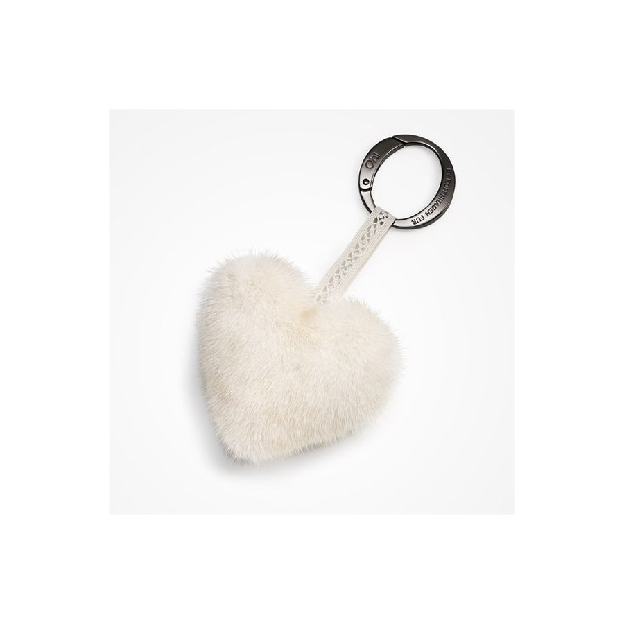Oh! OH! Heart Christmas Living Mink Keyring Keyhangers Pearl