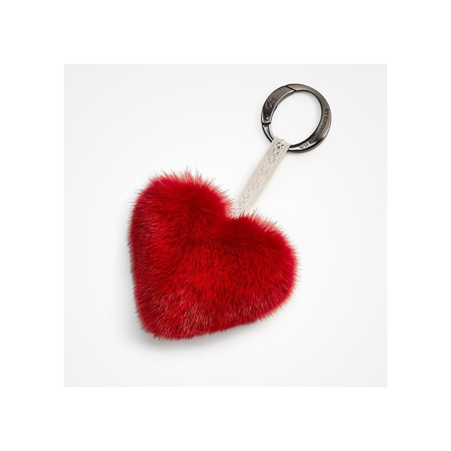 Oh! OH! Heart Christmas Living Mink Keyring Keyhangers Red
