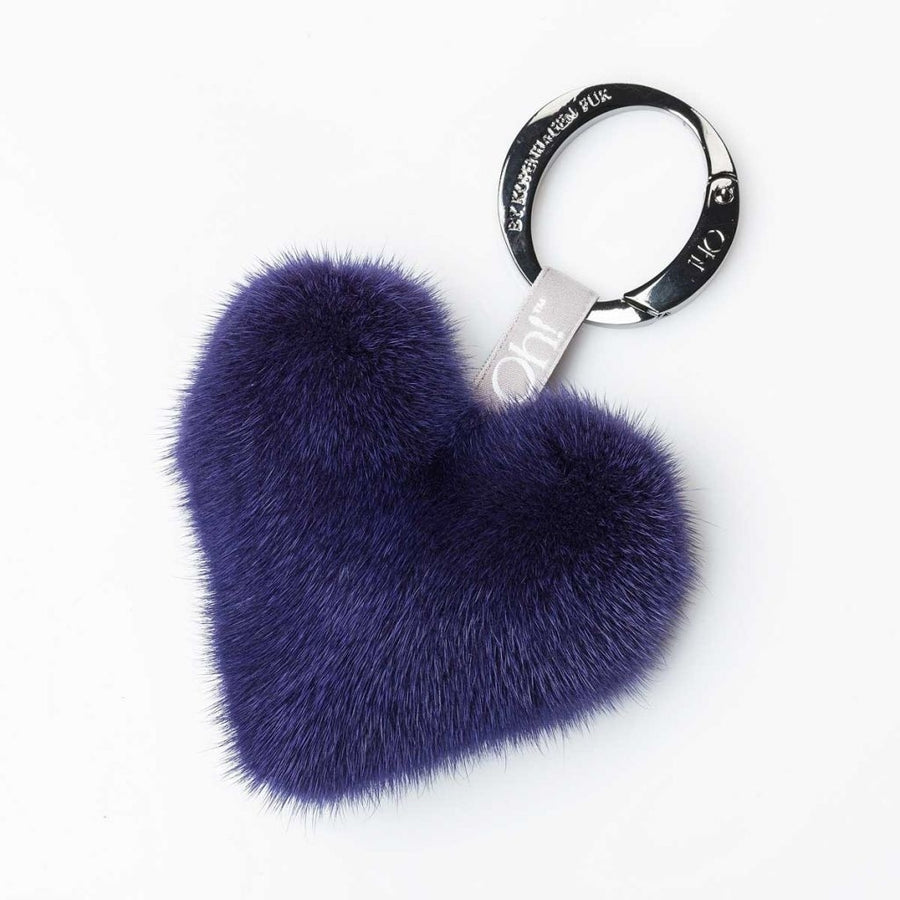Oh! OH! Heart Mink Keyring Keyhangers