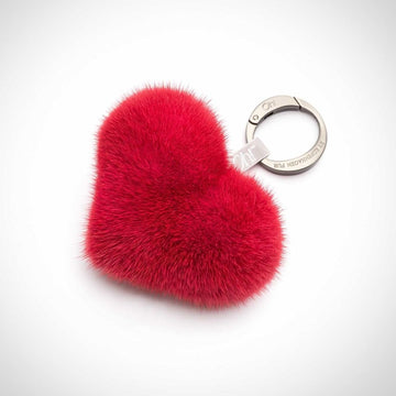 Oh! OH! Heart Mink Keyring Keyhangers Red