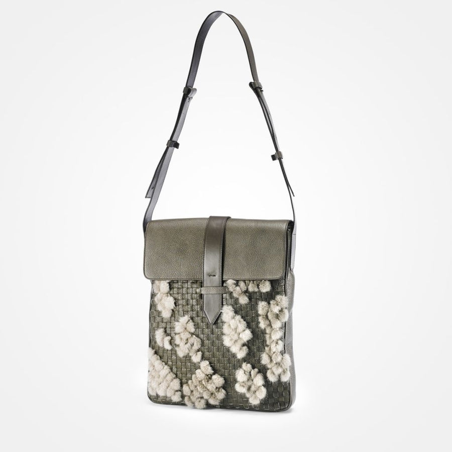 Oh! OH! Oscar Laptop Bag Braided Bag Grey