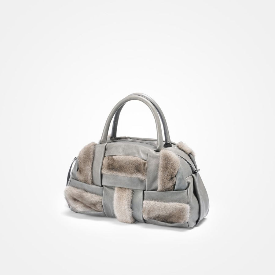 Oh! OH! Utopia Handbag Mink Bag Silver Blue
