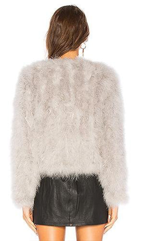Short Solid Color Fur Coat