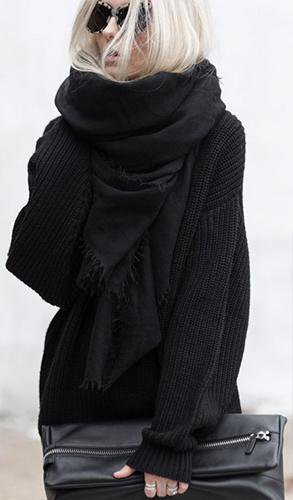 Warm Black Plus Scarf