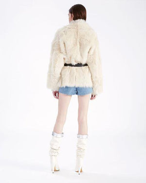 Fashionable Double-sided  Fur Coat