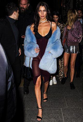 Celebrity's Favorite Blue Fur Coats