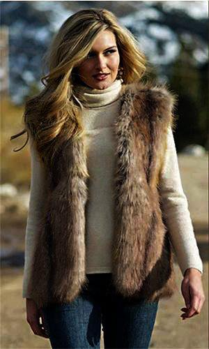 Mid-Long Fox Fur Vest