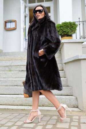 Noble Black Fur Coat
