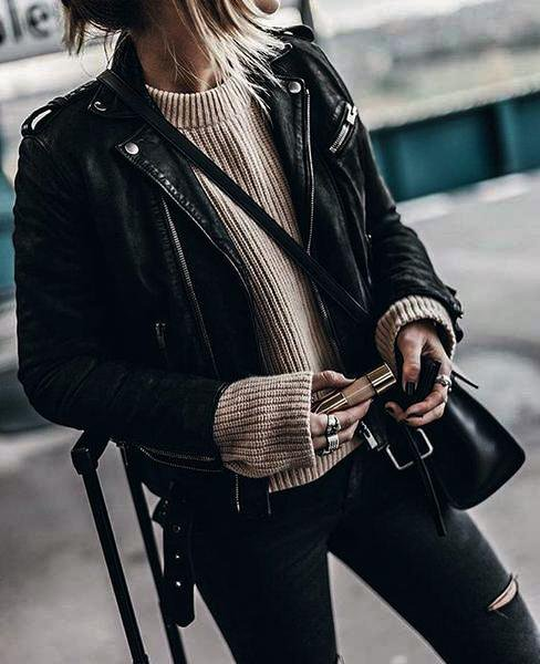 Awesome Women Leather Jacket