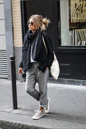 Gray  Casual Style Loose Scarf